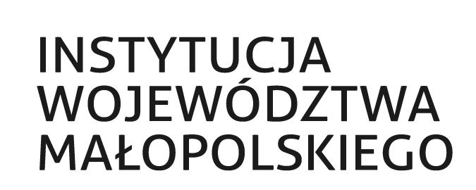 Napis Instytucja województwa małopolskiego, czarne litery